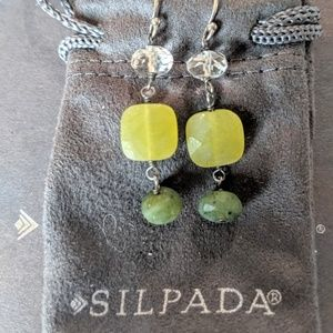 Silpada Green Jade Earrings. Retired